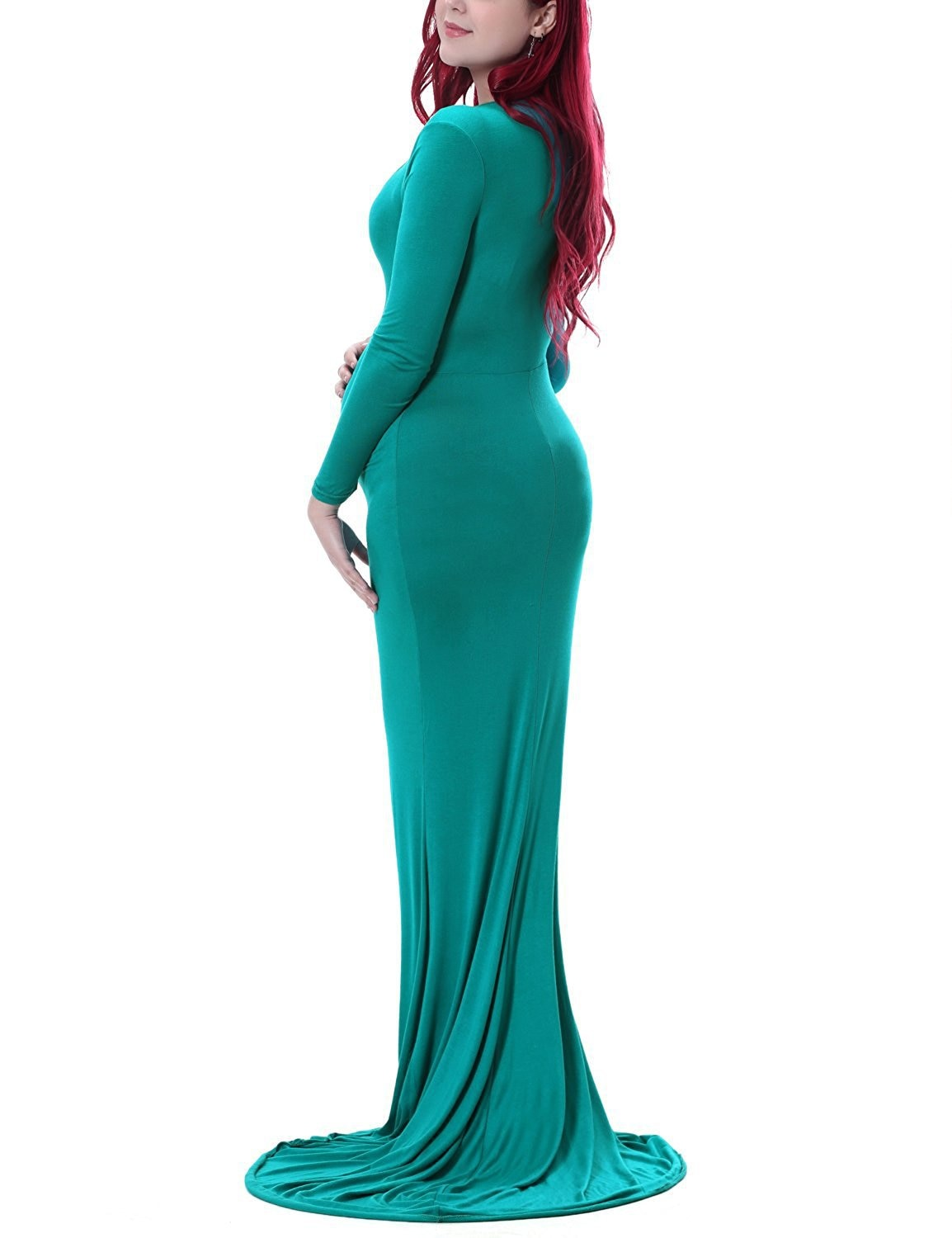 New Maternity Dresses for Photo Shoot Elasticity Maternity Photography Props Pregnancy Dress Maxi Dresses Gown Pregnant Clothes enlarge