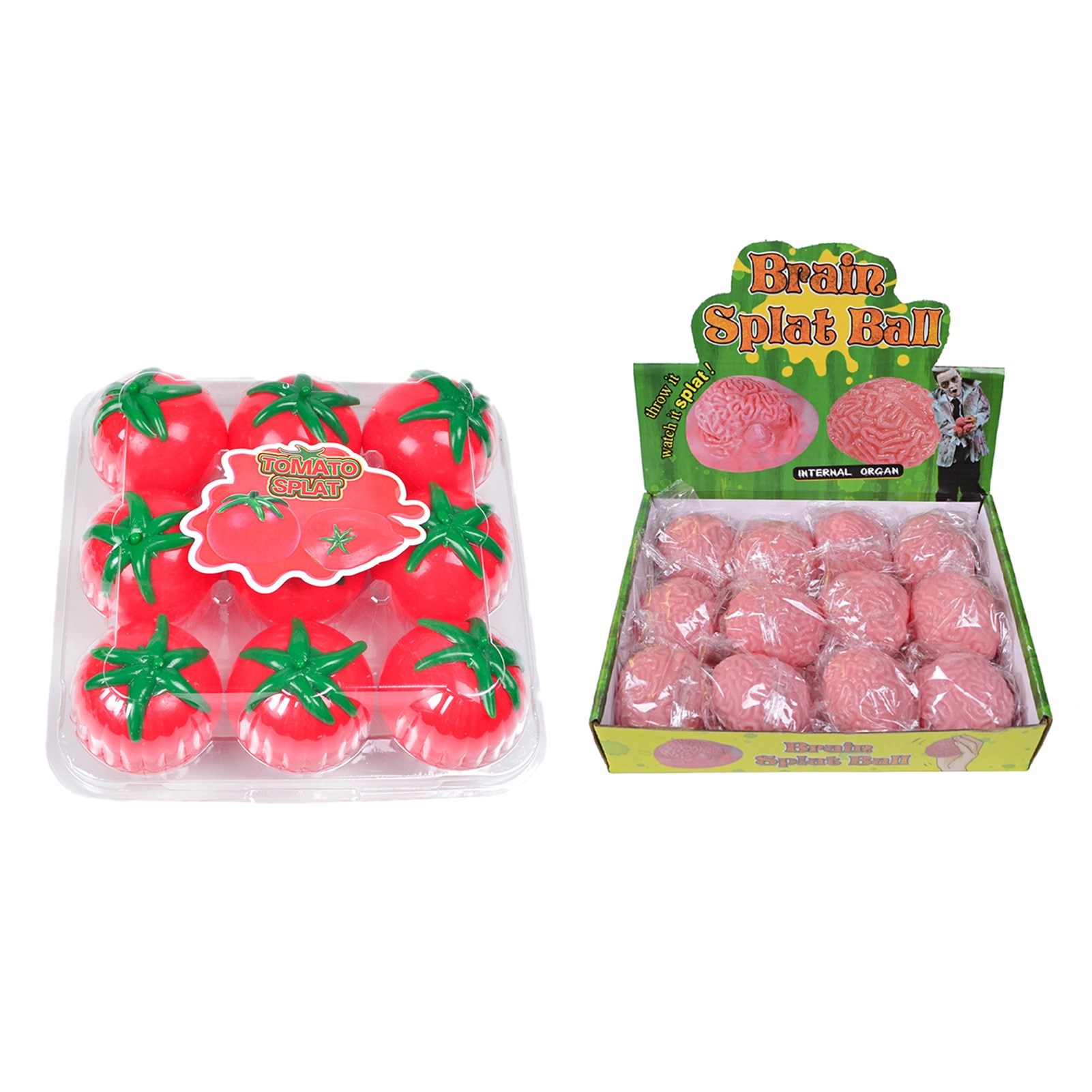 Sticky Splat Tomato Balls Simulation Fruit Food Tomato Shaped Water Squeez Ball Vent Tomato Toys Stress Reliever Sensory Toy