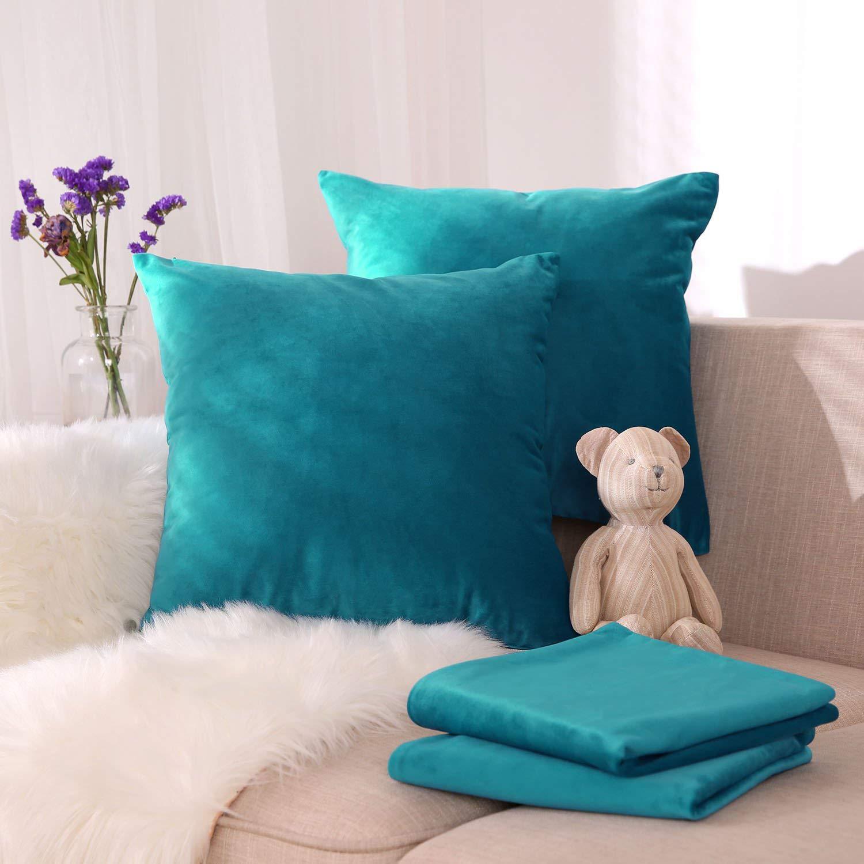 Новые наволочки для диванных подушек, бархатные мягкие однотонные декоративные Квадратные наволочки в скандинавском стиле 45x45 см для диванной кровати, украшение для дома