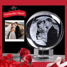 Personalisierte Geschenk Glas Foto Ball Laser Gravierte Einhorn Geschenk Gäste Geschenke für Hochzeit Souvenir Geschenk für Party Favors