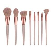 FLD 8 шт. набор кистей для макияжа Профессиональная синтетическая основа для век тени для бровей смешивание консилер косметические кисти инс...