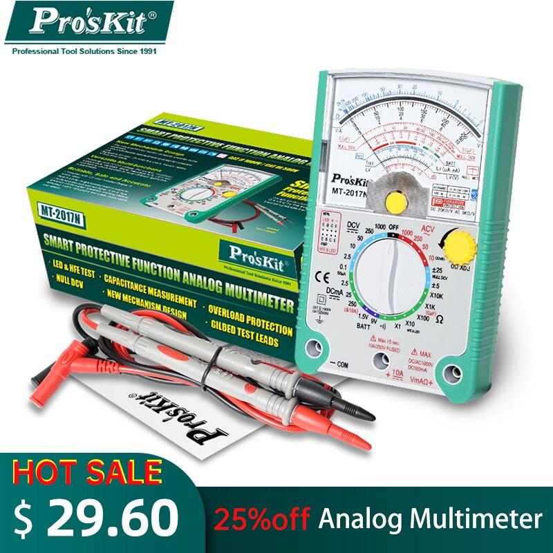 Pro\'sKit MT-2018 التناظرية مؤشر متعدد وظيفة واقية السلامة القياسية المهنية أوم اختبار متر MT-2017 MT-2019