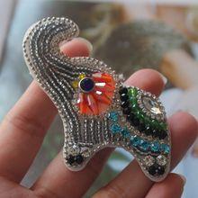 Parche ropa-patchs perlés éléphant   Pour vêtements, patch cousu sur le vêtement, broderie, à la mode