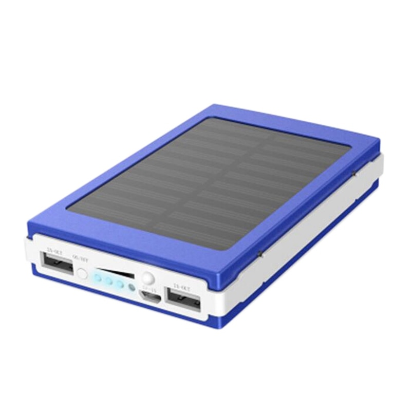 Tesouro para Telefones Energia Móvel Solar Portátil Duplo Usb Power Bank Mini Recarregável Celulares Azul 10000mah