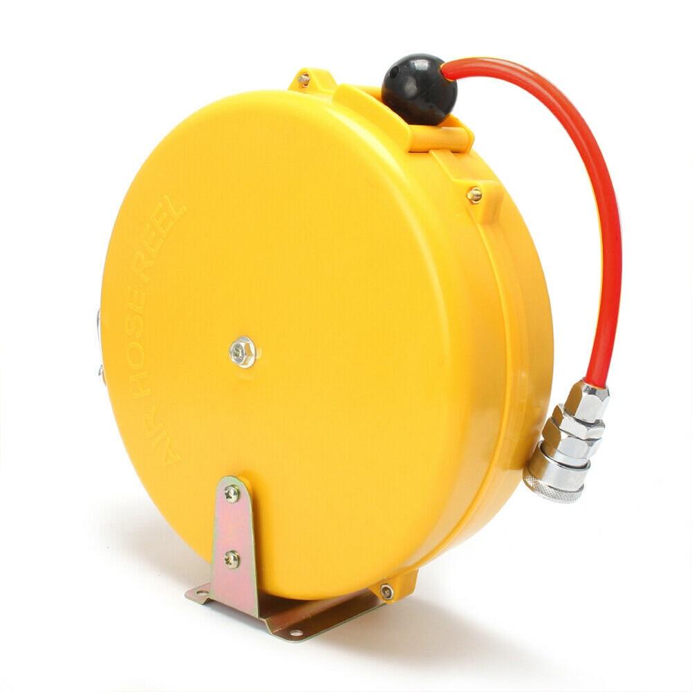 Auto 8M Mini Locking 180 Degree Swing Portable PP Home Air Hose Reel Retractable Enclosed Repair Plant Pneumatic Accessory 5x8mm
