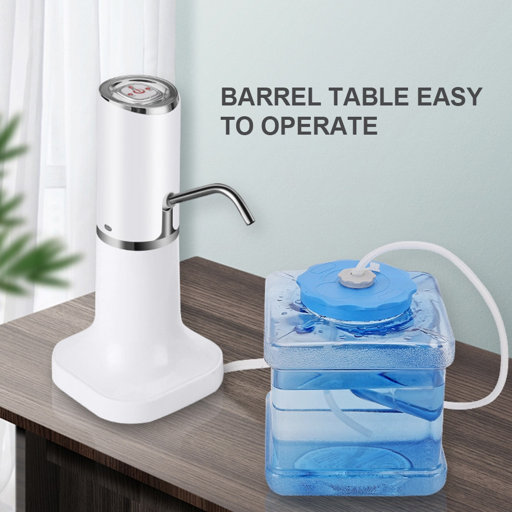 Electric Water Dispenser Water Bottle Pump Dispenser USB Wireless Portable Electric Automatic Water Pump Bucket Bottle