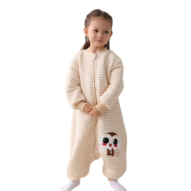 Детские спальные мешки весна-осень, тонкие хлопковые спальные мешки с разрезом на ногах для малышей, теплые хлопковые одеяла с защитой от уд...