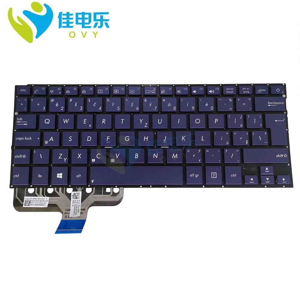 لوحة مفاتيح سار CZ بإضاءة خلفية لأجهزة ASUS zenbook ، UX301 ، UX301L ، UX301LA ، لوحات مفاتيح تشيكية CS زرقاء ، 0KN0-QD1CZ13 0KNB0-362ACZ00