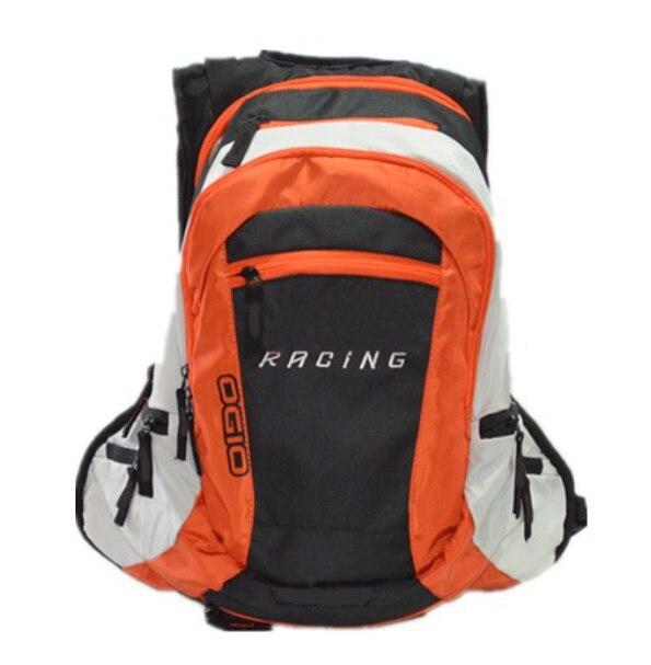 Naranja negro la motocicleta de carreras de mochila multifuncional de montaña ciclismo Mochila deportiva para el aire libre Bolsa de viaje de ocio para OGIO KKM