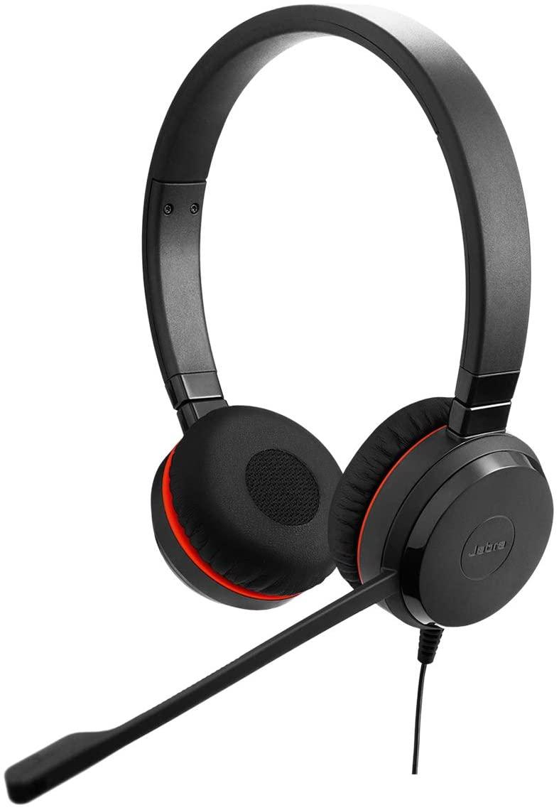 Jabra Evolve 20SE UC Stereo Binaural Head-band Black headset - headsets (Call center/Office, -10-50 °C, -30-80 °C, Binaural,