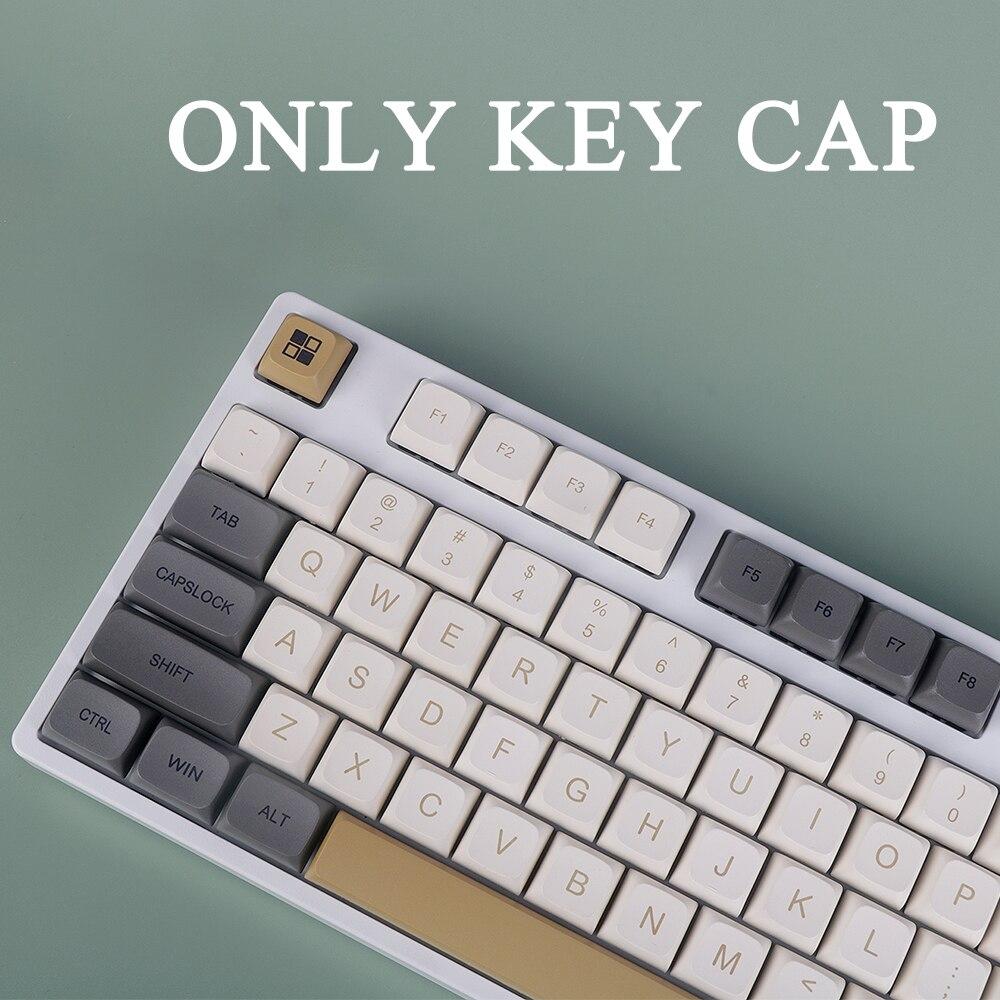 125-مفتاح PBT التسامي XDA مخصصة للغاية لوحة المفاتيح الميكانيكية كيكابس لامعة موضوع كيكابس مستديرة كيكابس الكرز MX التبديل