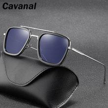 Retro Square Sunglasses Men Polarized UV400 High Quality Anti-blue Light Sun Glasses Gradient Lens G