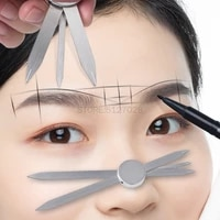 microblading eyebrow ruler compass eyebrow stencil permanent makeup portable makeup tattoo mapping supplies for shaped brows