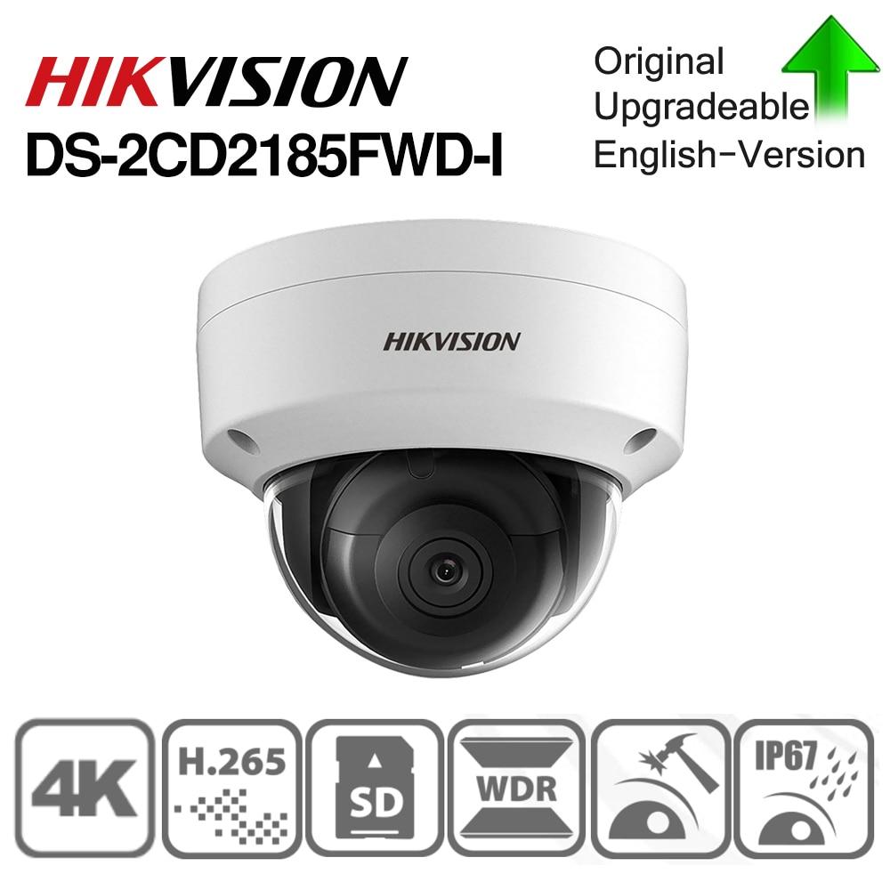 Hikvision OEM cámara IP DT185-I = DS-2CD2185FWD-I CCTV cúpula POE alarma de Audio interfaz H.265 ranura para tarjeta SD de seguridad CCTV Cámara