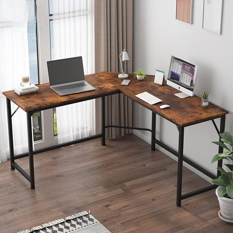 Офисный письменный стол L-образной формы, угловой компьютерный стол, стол для ноутбука, мебель для дома, игровой учебный стол, многофункцион...