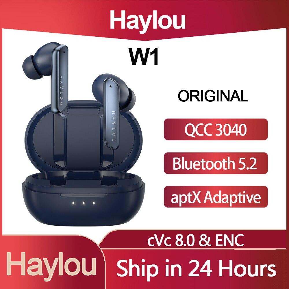 الأصلي Haylou W1 TWS QCC 3040 سمّاعات أذن لاسلكيّة AptX تكيف HiFi سماعة بلوتوث 5.2 مزدوج متوازن المحرك ديناميكي