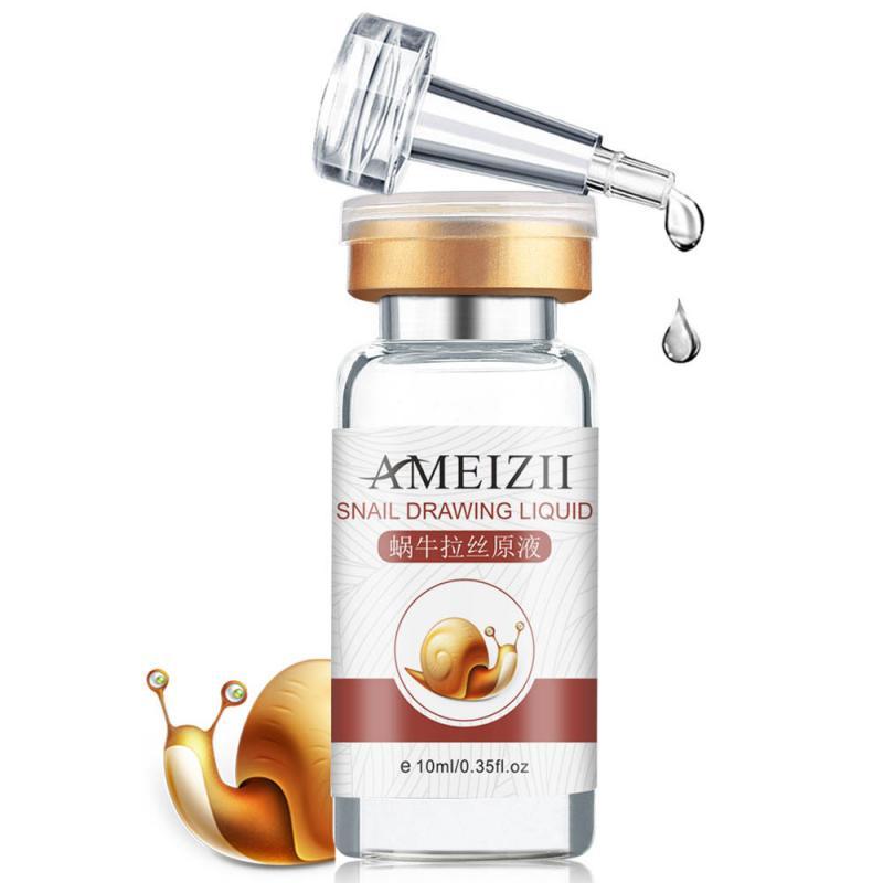1PCS AMEIZII Snail Essence Hyaluronic Acid Serum Moisturizing Whitening Lifting Firming Essence Anti