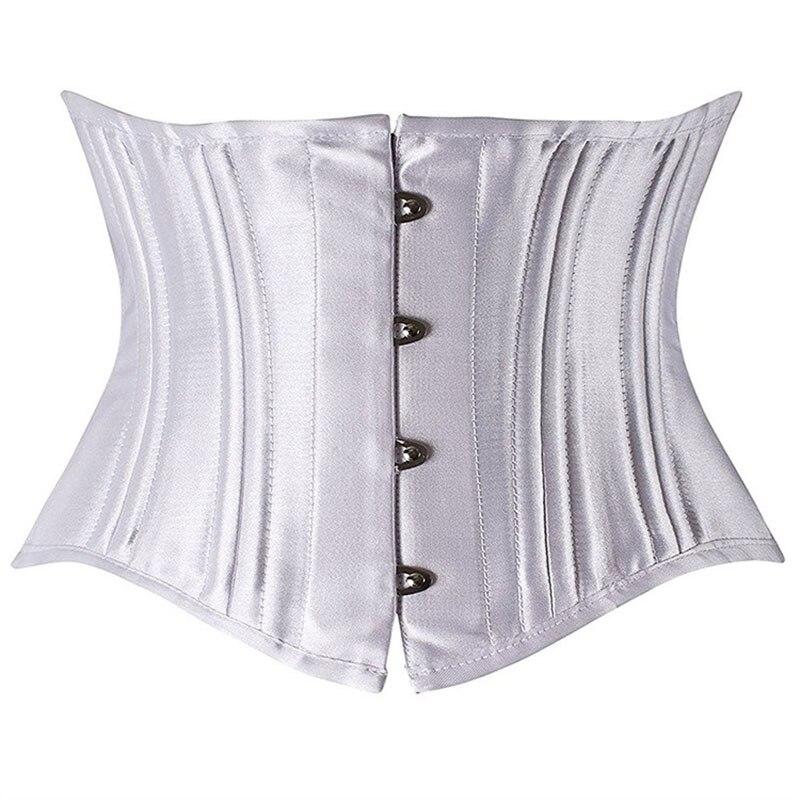 XXS-3XL النساء الصلب العظام مدرب خصر مشد ملابس داخلية Steampunk القوطية الأسود الكورسيهات حزام الخصر التخسيس كورسيليت