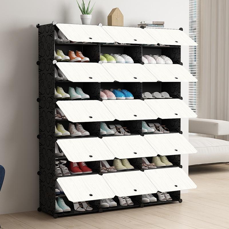 Fashoin модульный шкаф для обуви, стоящий пылезащитный органайзер для хранения, съемный Домашний Органайзер, держатель для обуви с дверью