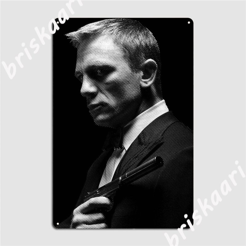 Daniel Craig Bond 007 Metal Sign Garage Decoration Customize Club Bar Cave Tin Sign Posters