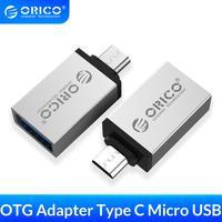 Адаптер ORICO Micro b на Type c OTG USB-c USB 3,0, конвертер для зарядки и синхронизации данных для Xiaomi