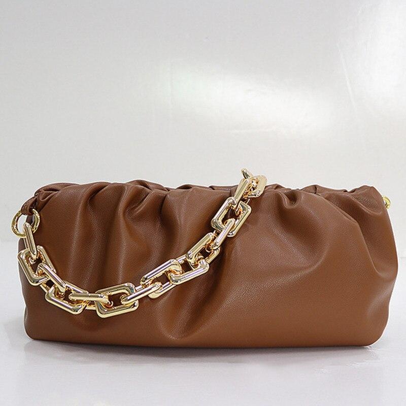 2021 جلد طبيعي سلسلة الزلابية الفاخرة مصمم الحقيبة حقيبة يد المحافظ وحقائب اليد للنساء حقائب كتف براثن اليوم