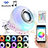 5w12w bluetooth light bulb speaker e27 smart wireless rgb led lamp music player audio with app remote control 110v 220v ampoule