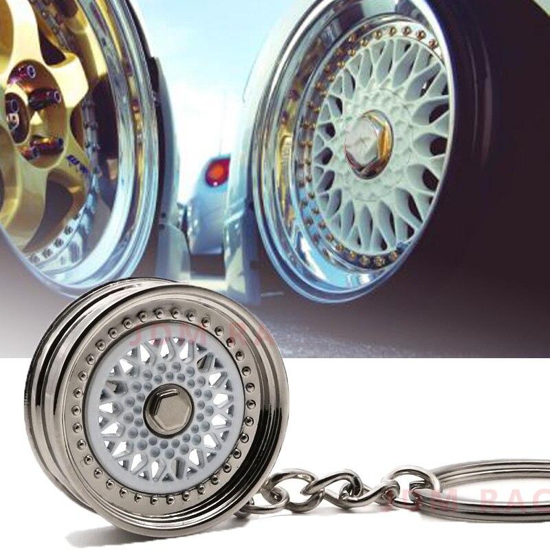 LLavero de coche llavero de Auto llavero Mini 5 radios llanta de rueda modelo llavero creativos con estilo para automóviles llavero de Auto parte