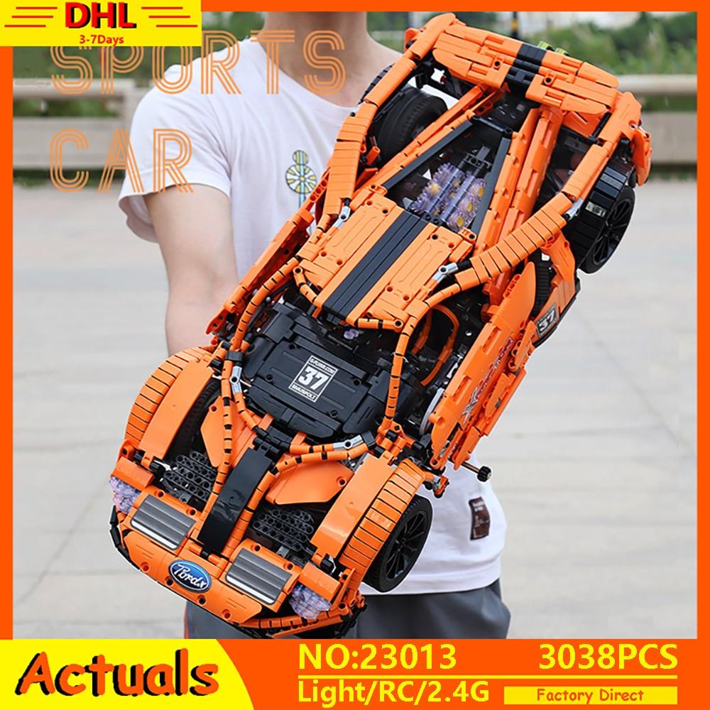 App rc técnica carro rc moc fords gt mustang corrida modelo de carro compatível com lepining 10792 blocos de construção tijolos brinquedos 20001 presente