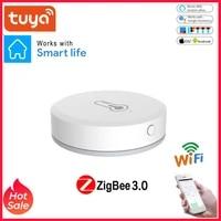 Tuya ZigBee     capteur intelligent de temperature et dhumidite  alimente par batterie  fonctionne avec Alexa Google Assistant et Tuya Zigbee Hub