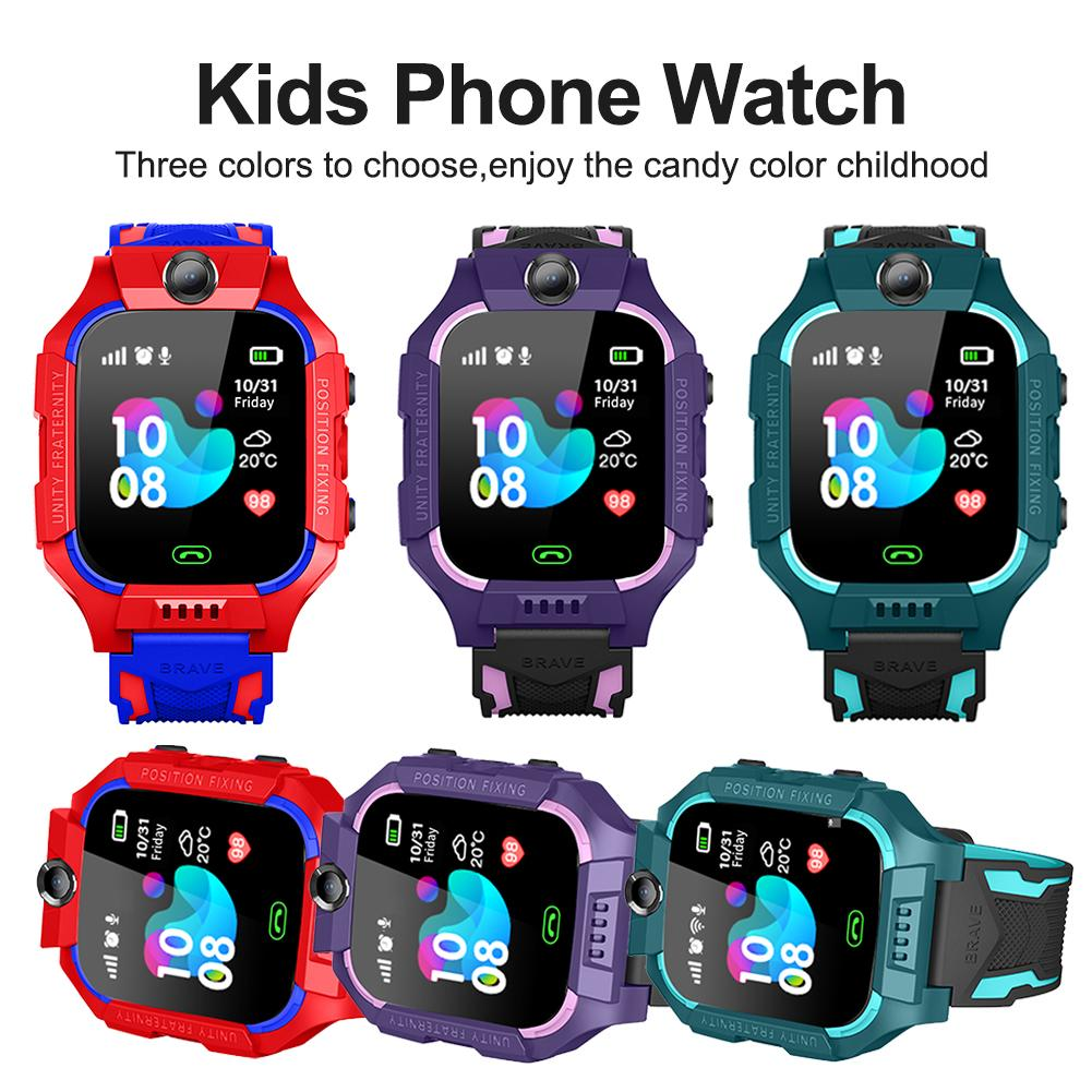 Z6 Children Kids Smart Watch IP67 Deep Waterproof 2G SIM Card GPS Tracker Camera SOS Call Location Reminder Anti-Lost PK Q50 Q12