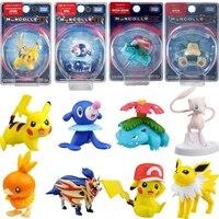 genuine pokemon takara tomy figurines anime sword and shield sun and moon pikachu mew snorlax action figure model toys kids gift