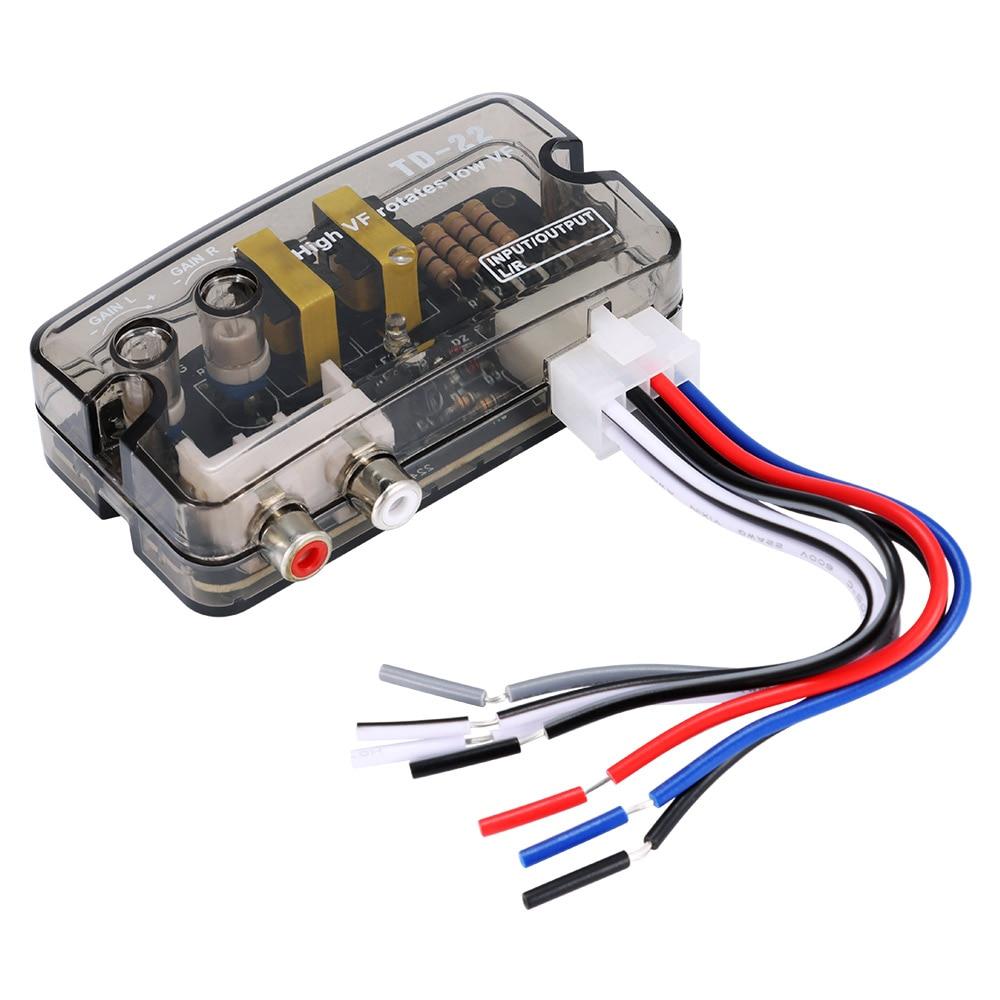 Convertidor de Audio para coche, adaptador de Convertidor de nivel de altavoz...