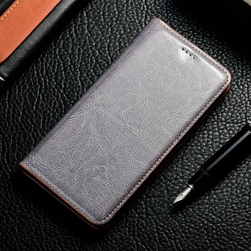 Funda magnética de cuero Natural genuino con tapa tipo billetera para teléfono Realmi Realme 5i 5 Pro i Realme5i Realme5 64/128 GB