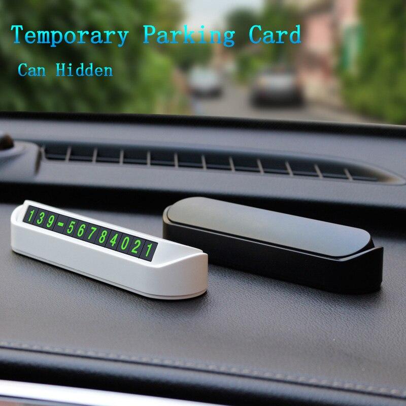 Para estacionamiento temporal de coche tarjeta Placa de tarjetas de número de teléfono nuevo AUTO para Kia eco Pro-cee-d KOUP cee-d Rondo Kue Kee KV7 POP VG
