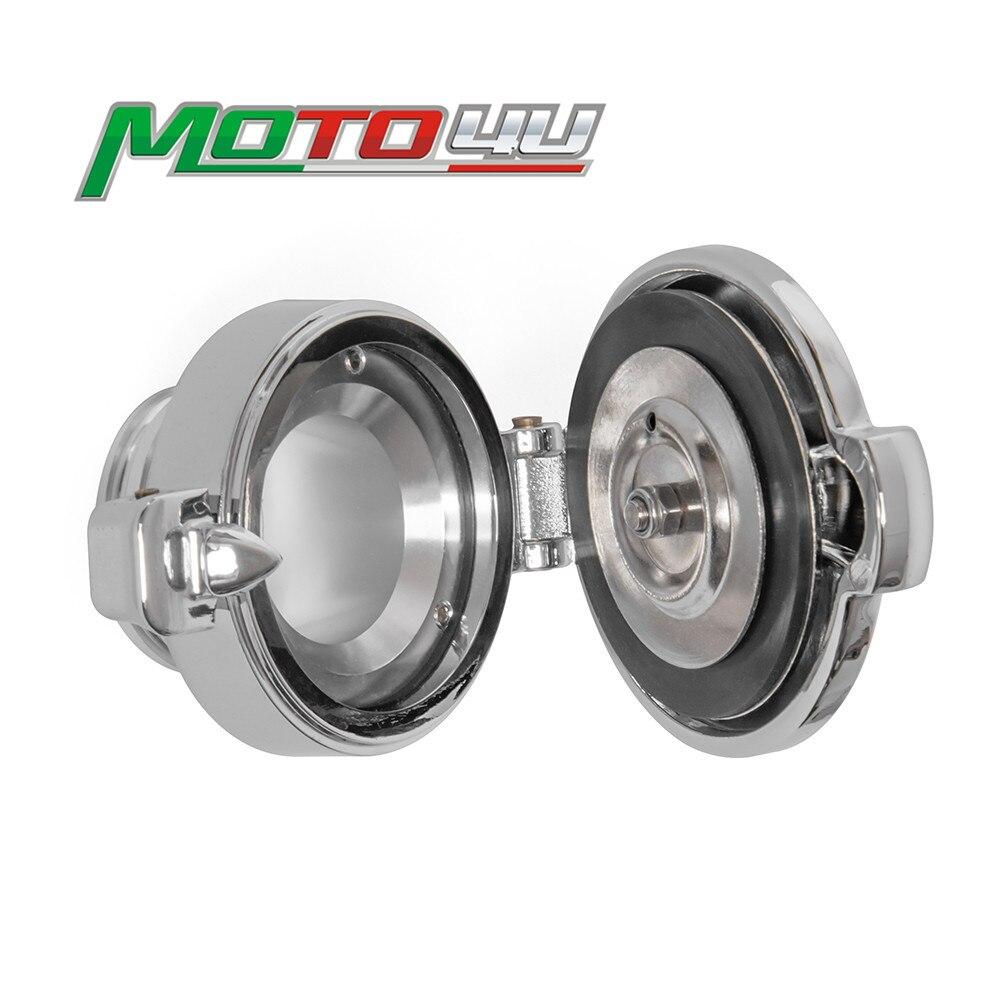 Tapa de tanque de combustible de aluminio Accesorios Estilo Monza para Triumph Twins Bobber T100 T120 Street Cup 2016 2017 2018 2019 2020