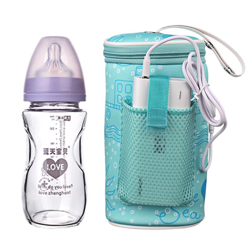 Новая подогреватель для детских бутылочек с молоком и usb, подогреватель для автомобиля, теплоизоляционная сумка с теплоизоляцией для подач...