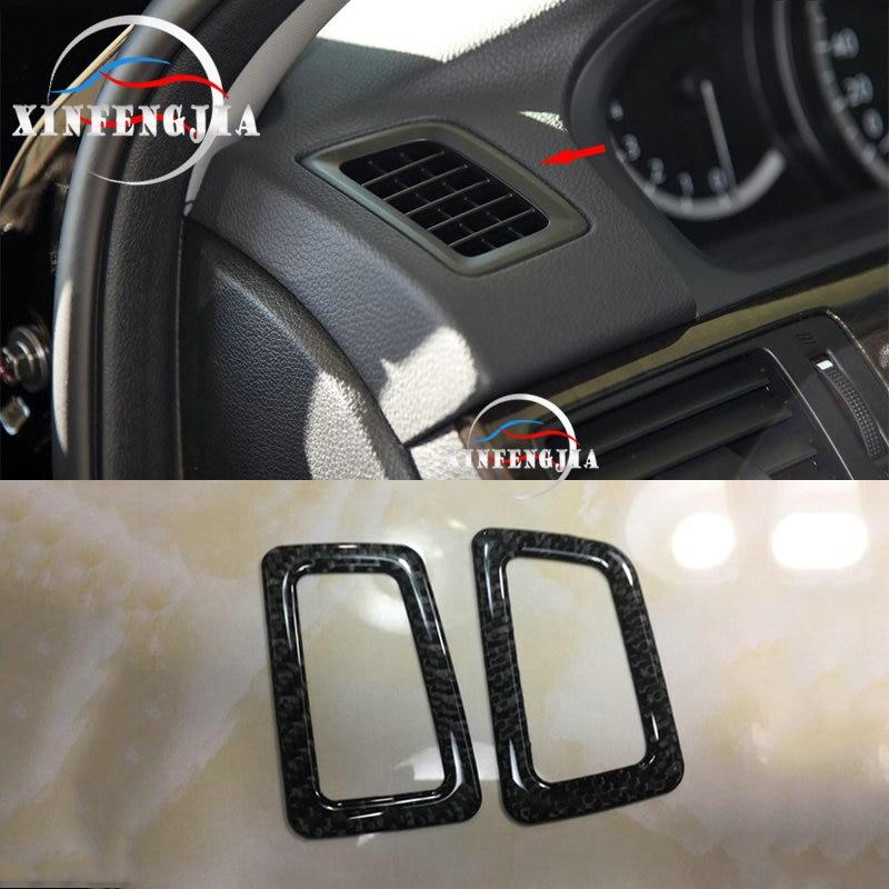 Garniture de cadre de sortie dair Honda Accord   En Fiber de carbone véritable 13-17 2x