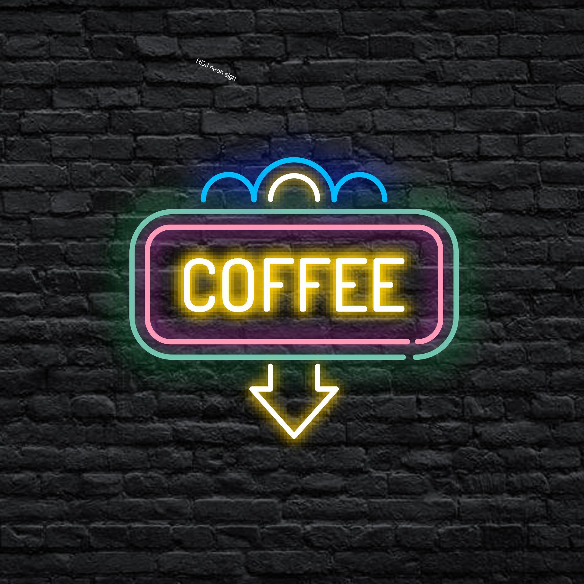 شخصية مصابيح إضاءة ليد مخصصة رسالة النيون تسجيل القهوة مناسبة ل مقهى شرب متجر متجر نادي ضوء النيون الزخرفية