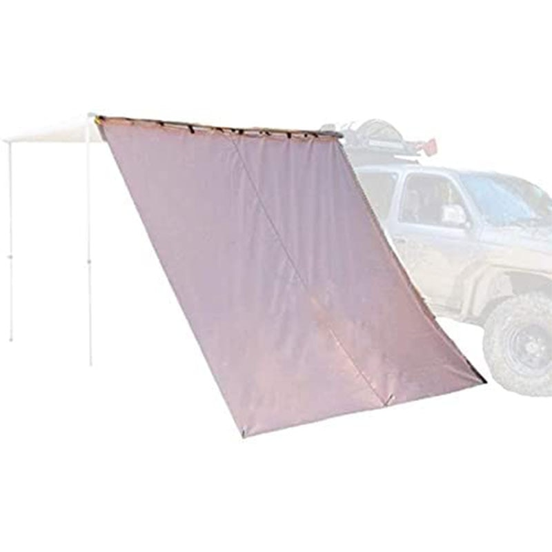 Sunnday Retractable Waterproof Camper Car Awning Extension Side Cloth for SUV Overland Car Tents (Khaki, 6.5ftx6.5ft)