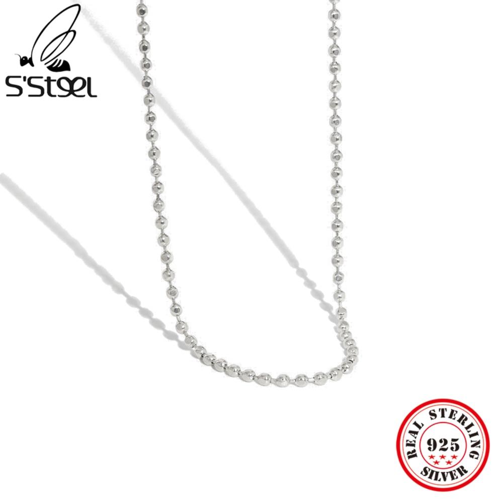 s'steel-стерлингового-серебра-925-подвески-и-ожерелья-для-женщин-дизайнерские-минималистский-геометрическая-бусина-текстура-аксессуары-ювелир