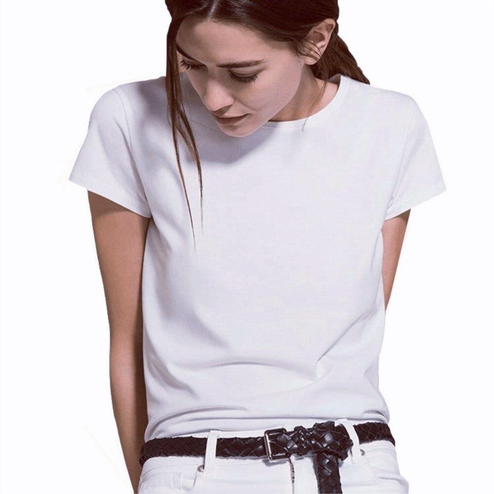 Kurzarm einfache Frauen t-shirt Baumwolle Polyester Casual Lustige Weiß t shirt Geschenk Für Dame Yong Mädchen Top T Drop schiff