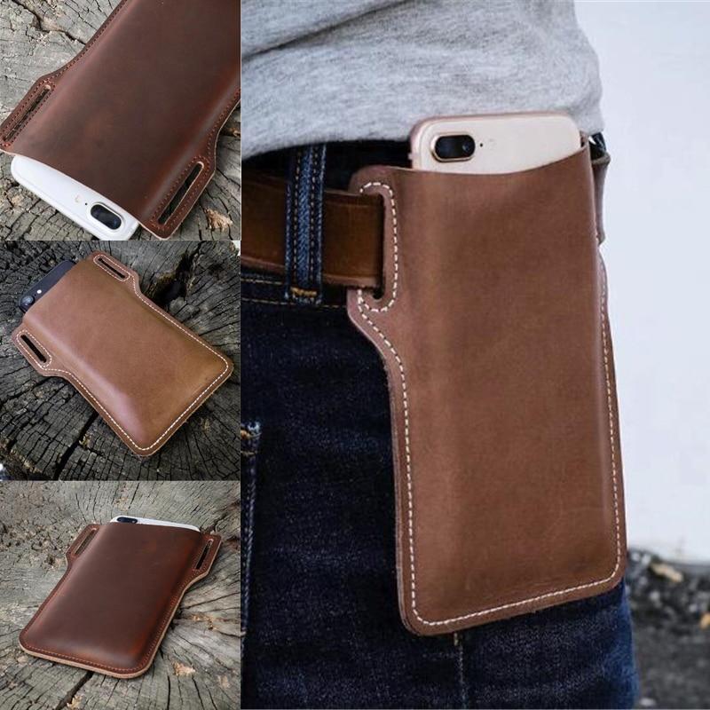 1pc plutônio celular loop coldre caso cinto saco da cintura adereços pu couro bolsa telefone carteira para homem