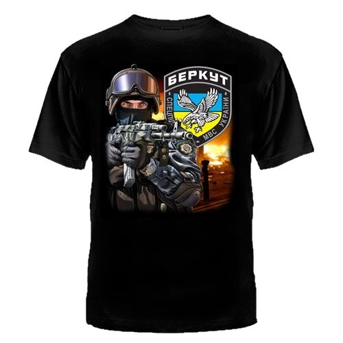 Berkut Беркут camiseta Rusia Ucrania Kiev Lnr Dnr Spetsnaz Mvd Mwd-Mostrar título Original doble lado 2019 Unisex tee