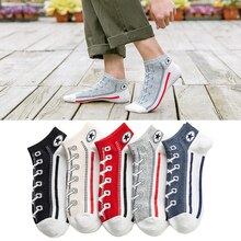 5 Pairs/Set Men/Women Socks Skate Shoes Pattern Short sock Autumn/Winter Thicker Warmer Fashion Shoe