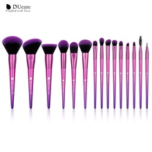Kit de brochas de maquillaje DUcare de 15 uds, brochas de maquillaje de pelo sintético suave, brochas de maquillaje, brocha de maquillaje para colorete, sombra de ojos, herramienta de maquillaje cosmético