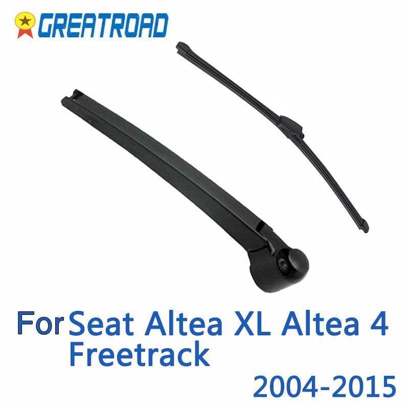 "Limpador 11 ""lâmina de limpador traseira & kit conjunto de braço para seat altea xl altea 4 freetrack 2004-2015 pára-brisas janela traseira"