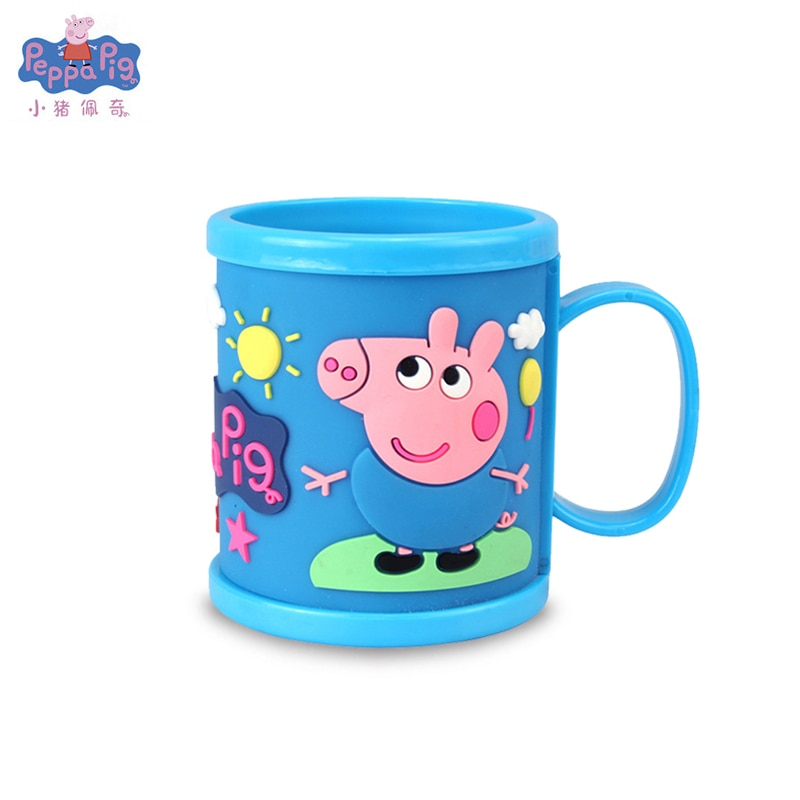 Peppa Pig niña niños juguete George Pig Piggy Oral cepillo de dientes taza lavable muñeca movible Original peluciappa Pig niños juguete para regalo