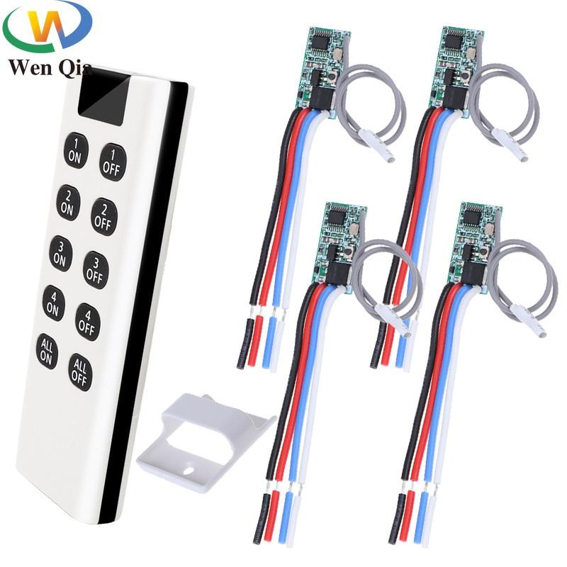 AliExpress - Smart Home 433mhz Mini Switch Wireless Remote Controller DC 3.6V 6V 12V 24V 1CH Relay Receiver Transmitter Power LED Lamp Light