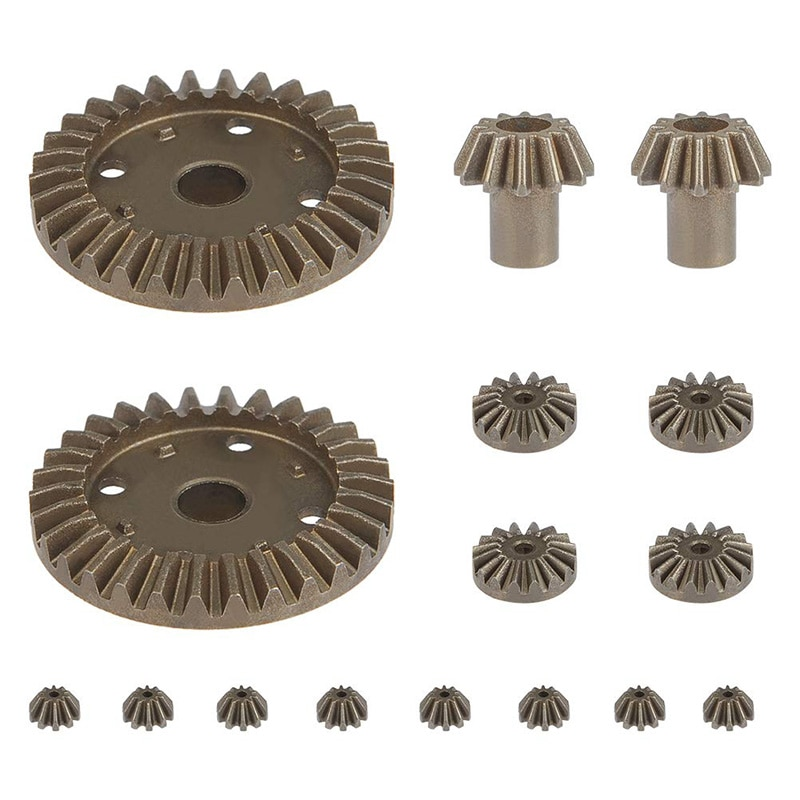 Wltoys 144001 parts Upgrade Metal Gear 30T 16T 10T Differential Driving Gears for Wltoys 144001 12428 12429 12423 12429